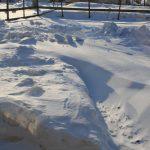雪降ってないのに道がなくなりました