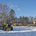 今シーズン初除雪!