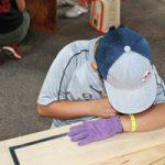 夏休みの宿題は親子木工教室で