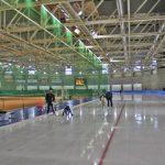 「十勝オーバル」のスケート大会に出るために