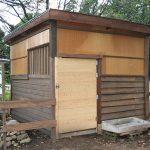 ロバ小屋+柵、出来ました