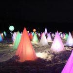 十勝川温泉の冬の風物詩「彩凛華」は鮮やかな光に包まれます